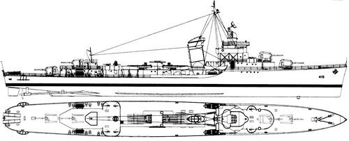 USS DD-415 O'Brien 1943 [Destroyer]