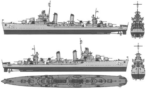 USS DD-421 Benson (1940)