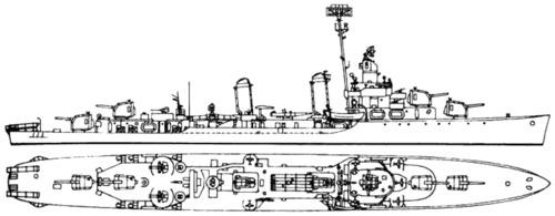 USS DD-421 Benson (1944)