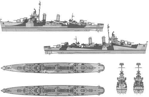 USS DD-421 Benson (1945)
