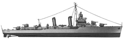 USS DD-423 Gleaves (1944)