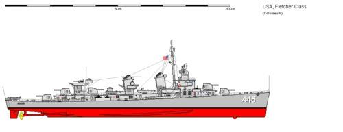 USS DD-445 Fletcher