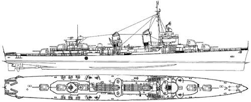 USS DD-451 Chevalier
