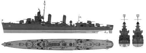 USS DD-459 Laffey