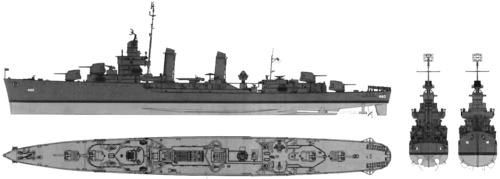 USS DD-460 Woodworth