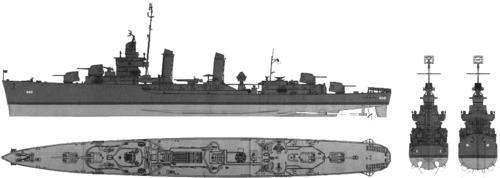 USS DD-460 Woodworth (1942)