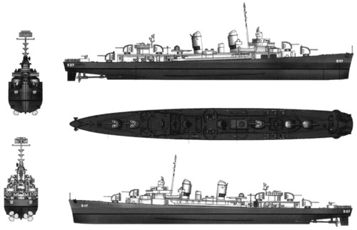 USS DD-537 The Sullivans