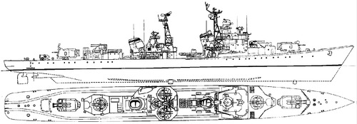 USSR Naporystyy 1966 [Kotlin-class Destroyer]