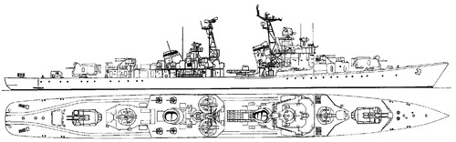 USSR Naporystyy 1973 [Kotlin-class Destroyer]