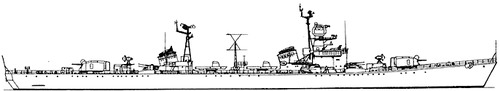 USSR Project 41 Neustrashimy class Destroyer