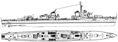 USSR Project 45 Opytny-class Destroyer 1941