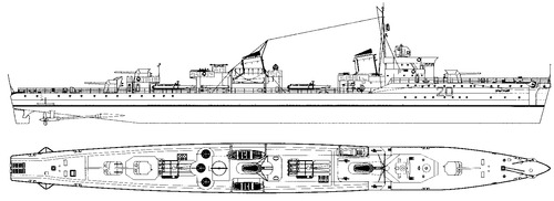 USSR Project 45 Opytny-class Destroyer 1947