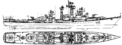 USSR Project 61MP Smetlivy (Kashin-class Destroyer)