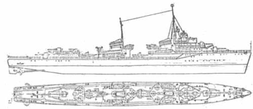 USSR Storozhevoy (Destroyer) (1940)