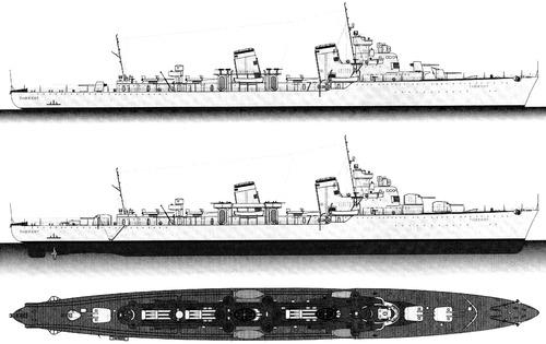 USSR Tashkent 1940 [Destroyer Leader]