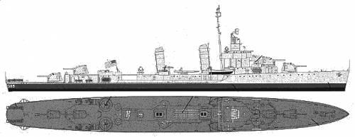 DD 605 Caldwell
