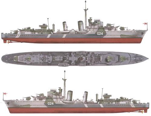 HMCS Huron 1944 [Destroyer]