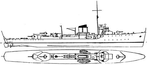 HNoMS Sleipner 1936 (Destroyer)