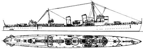 HSwMS Ehrenskold 1927 [Destroyer]