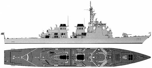 JMSDF DDG-176 Chokai (Destroyer)