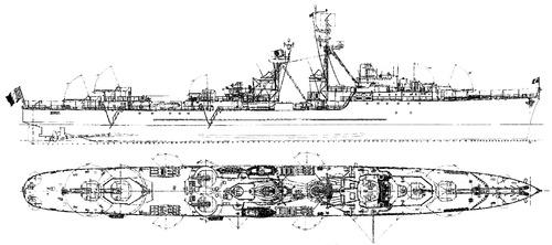 NMF Bouvet 1951-82 [T 47 class Destroyer]