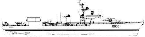 NMF La Galissonniere D638 1963 (T 53 class Destroyer)