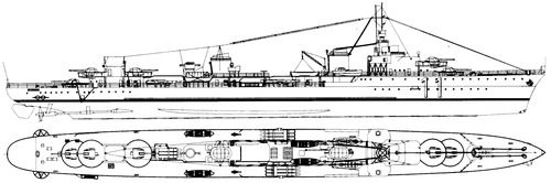 NMF Le Terrible 1936 (Destroyer)