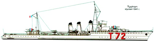 NMF Typhon 1941 (Destroyer)