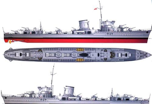 ORP Blyskawica H34 1939 [Destroyer]