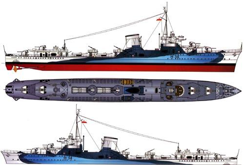ORP Blyskawica H34 1942 [Destroyer]