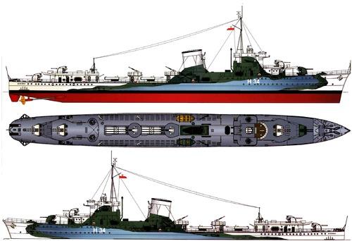 ORP Blyskawica H34 1944 [Destroyer]