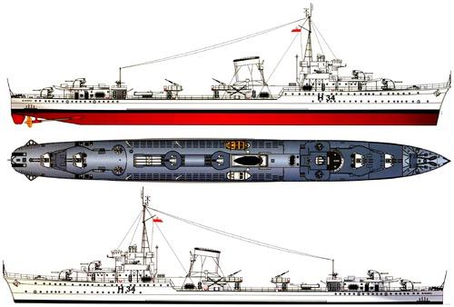 ORP Blyskawica H34 1946 [Destroyer]