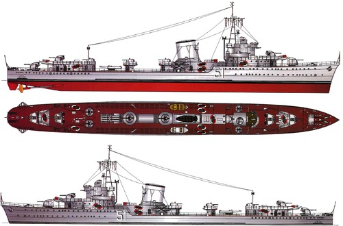 ORP Blyskawica H34 1955 [Destroyer]