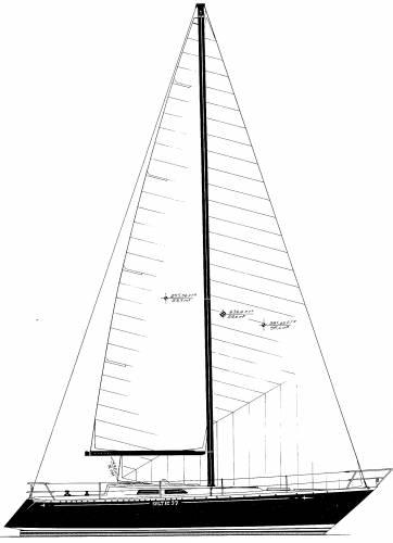 Baltic 37 sail plan