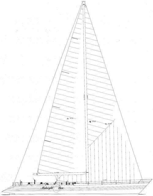Baltic 80 Midnight sun sail plan