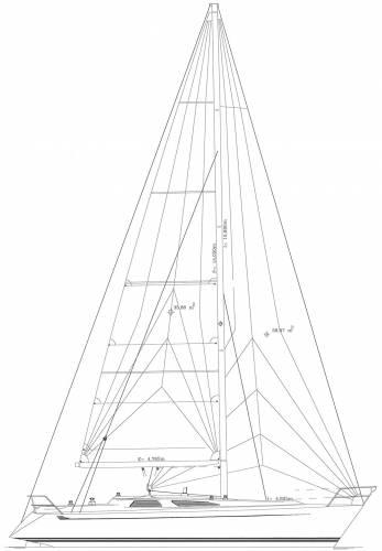 Baltic B40 sailplan tall rig