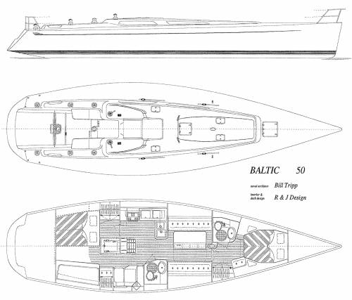 Baltic B50 Deck Interior layout