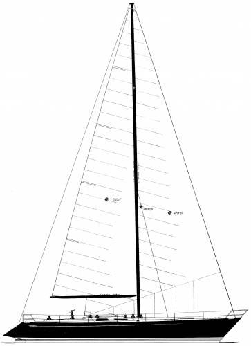 Baltic B55DP Sailplan
