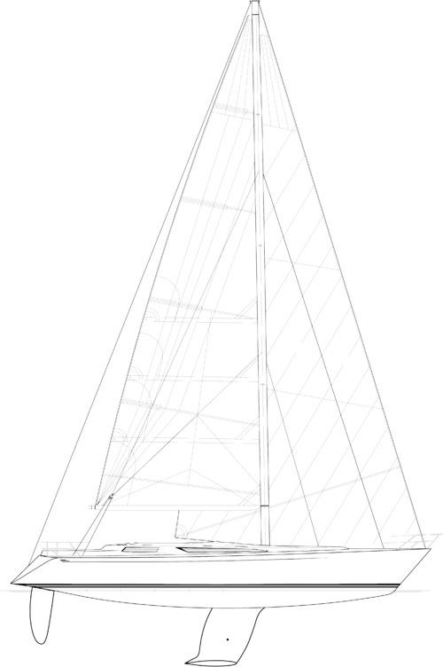 Baltic B58 Sail plan
