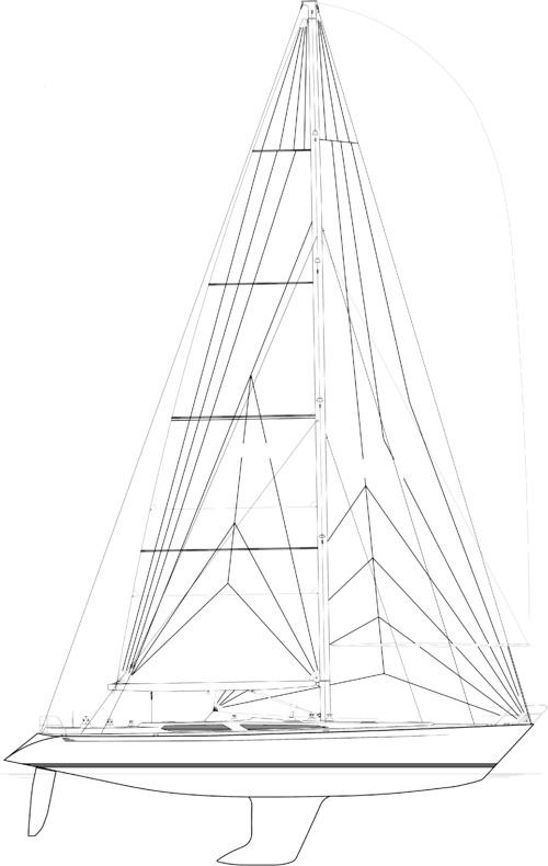 Baltic B64 Sail plan