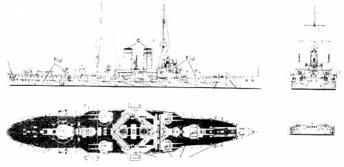 KuK Erzherog Ferdinand Austro-Hungarian Radetzky Class Battleships).gif
