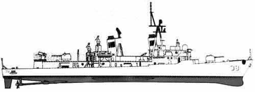HMAS D-38 Perth (Destroyer)