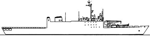 HMAS Kanimbla L51 (ex USS Saginaw LST-1188 Landing Platform Amphibious Ship)