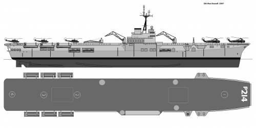 HMAS Sydney A214 troop transport profile