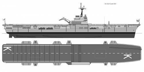 HMAS Sydney R17 profile and plan