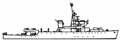 HMCS Algerine (Minesweeper) - Canada (1944)