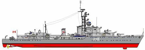 HMCS Cayuga DDE-218 (Destroyer Escort)