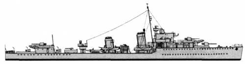 HMCS QuApelle (Destroyer) - Canada (ex HMS Foxhound H69) (1943)