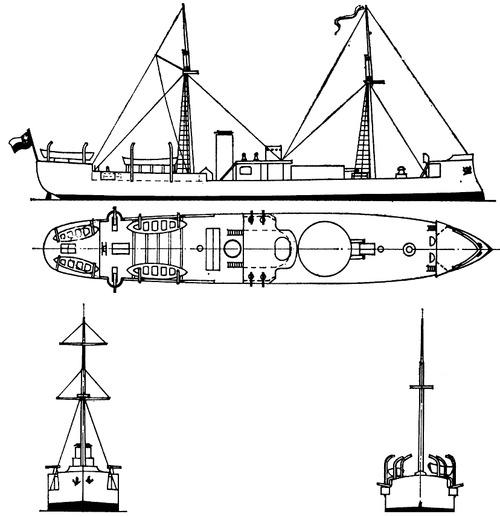 Chile - Huascar (Ironclad) (1891)