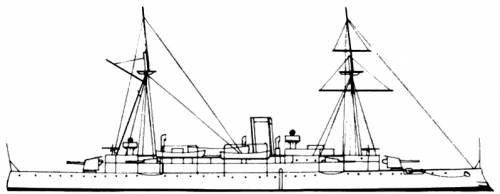 HDMS Hekla (Cruiser) - Denmark (1890)